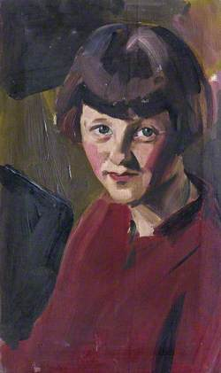 Portrait of an Unknown Girl Wearing Red