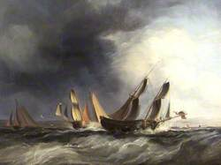 Ships in Rough Sea