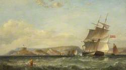 Ships off Mumbles