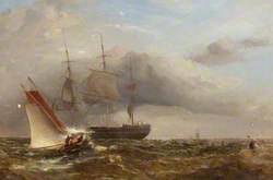 Pilot Cutter in Stormy Sea
