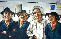 Canteen Staff; Christine Thomas, Jenny Jones, Rachael Lang and Donna Hadley