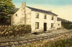 White Stone Cottage with Single Track Railway