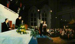 Presentation of Awards by Enid Rowlands, Chairman of ELWa (Education and Learning Wales), 28th November 2002
