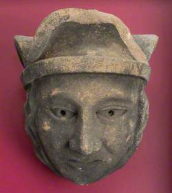 Stone Head with Hat