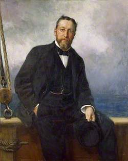 Peter Thellusson (1850–1899), on Board the Yacht, 'Albion'