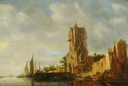 River Scene with a Tower