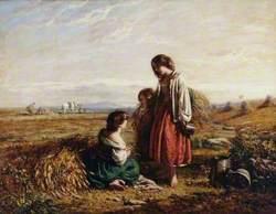 Children in a Hayfield