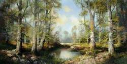 Woodland Scene with a Pond