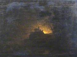 Landscape with Figures by Moonlight