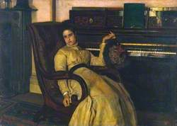 Girl Resting at a Piano