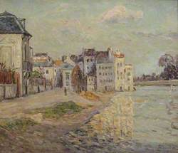 The Embankment of Lagny under Flood Water (Le Quai de Lagny inondé)