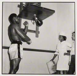 Muhammad Ali training, Earl's Court, London