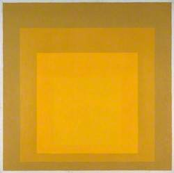 Study for Homage to the Square: Departing in Yellow