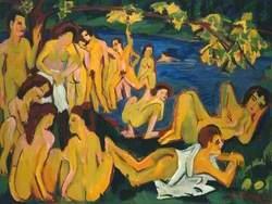 Bathers at Moritzburg (Badende Moritzburg)