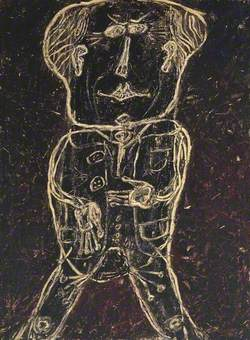 Monsieur Plume with Creases in his Trousers (Portrait of Henri Michaux) (Monsieur Plume plis au pantalon (Portrait d'Henri Michaux))