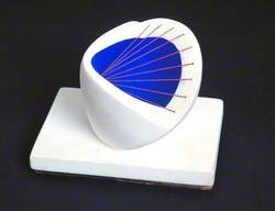 Sculpture with Colour (Deep Blue and Red)