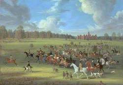 Coursers Taking the Field at Hatfield Park, Hertfordshire, the Seat of the Marquess of Salisbury