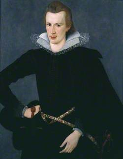 Portrait of a Man in a Slashed Black Doublet