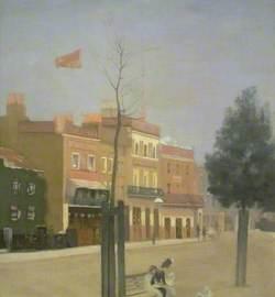 The Three Public-Houses, Morning Sun Light