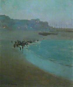 Beach at Dusk, St Ives Harbour