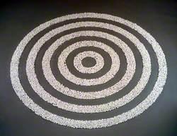 Small White Pebble Circles