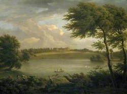 View of Copped Hall in Essex, from across the Lake