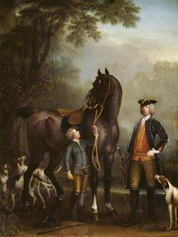 Viscount Weymouth's Hunt: The Hon. John Spencer beside a Hunter held by a Young Boy