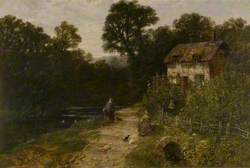 Landscape with Cottage and Figures