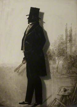 Silhouette of a Man with St Thomas' Church
