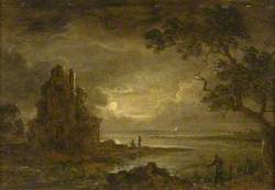 Lake Scene, Moonlight