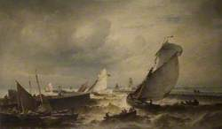 Fishing Boats Leaving Ostend Harbour