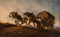 Horses Straining at a Load