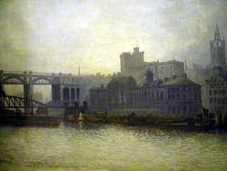 Newcastle upon Tyne from the River