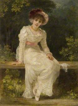 Lady Seated in a Garden