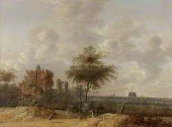 Landscape with the Ruined Castle of Brederode and a Distant View of Haarlem