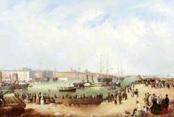 Opening of the South Dock, Sunderland, 1850