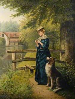 Portrait of a Woman and a Dog