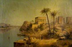 Ruins on Island of Philae, on the Nile, prior to the building of the Nile Dam