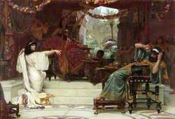 Esther Denouncing Haman to King Ahasuerus