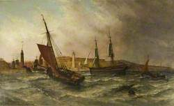 Sunderland Harbour in 1854