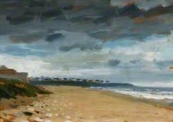 Whitburn with Stormy Sky