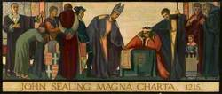 John Sealing the Magna Carta 1215