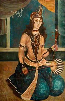Woman Playing a 'Kamanche'