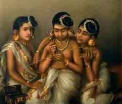 Three Nayar Girls of Travancore
