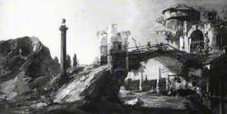 Capriccio: Ruined Bridge with Figures