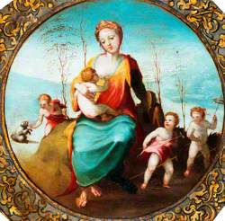 Charity Surrounded by Children Playing with Dogs and Hobby Horses