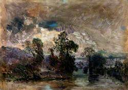 Landscape with a Stormy Sky