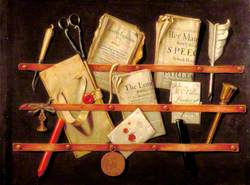 Trompe l'oeil with Writing Materials