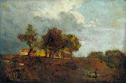 Landscape with Elm Trees and a Farm, near Bayswater