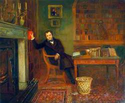 John Forster (1812–1876), in His Library